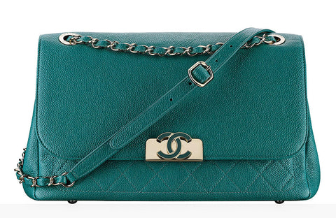 Chanel Seafoam/Teal Green Flap Bag