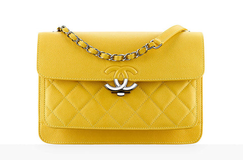 Chanel Yellow Flap Bag