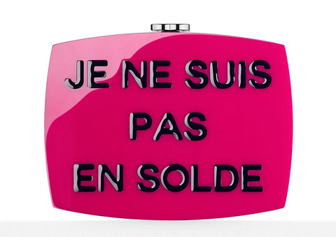 Chanel I Am Not For Sale Plexiglass Minaudiere