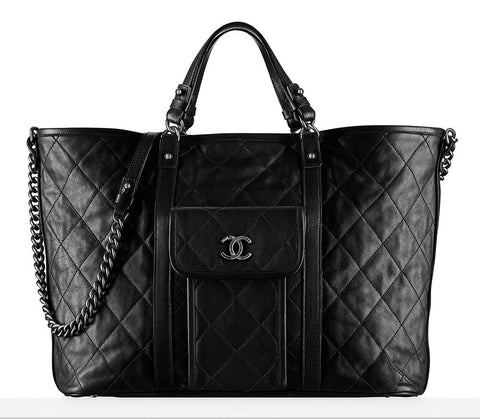 Chanel Large Calfskin Shopping Tote