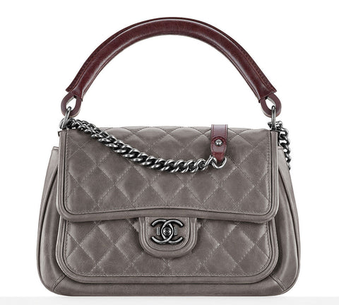 Chanel Large Top Handle Flap Bag