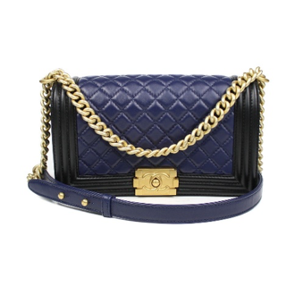 Chanel 2016 Medium Boy Bag With Shoulder Strap