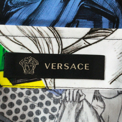 New: Versace Comic Crash Print Shirt Short Sleeve Men's US XXL - 42