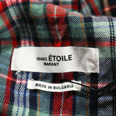 Isabel Marant Etoile Dresden A Line Flannel Plaid Button Down Top  US 4 - 36