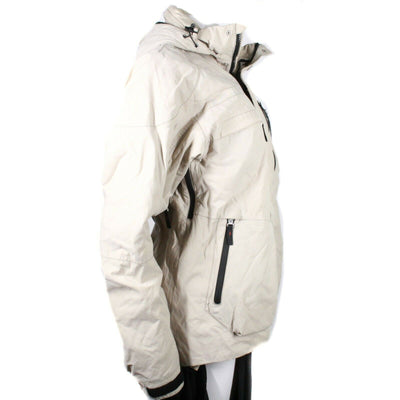 Bogner Women's Fire & Ice Winter Coat  Beige Hooded Parka Jacket  Medium  50