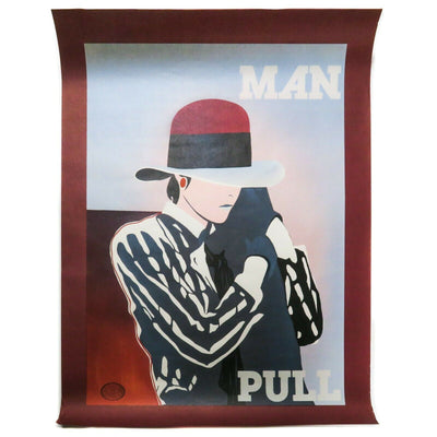 Ducelier Large Art Print Man Pull  1930 Original Color Lithograph Poster
