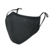 ililily Black Cotton Washable Nose Wired Face Mask Filter Pocket Wide Cover With Filter