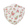 ililily Ivory Cotton Patterned Face Cover Reusable Shield With Filter Pocket