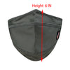 ililily Cotton Solid Color Wired Face Cover Reusable Shield With Filter Pocket