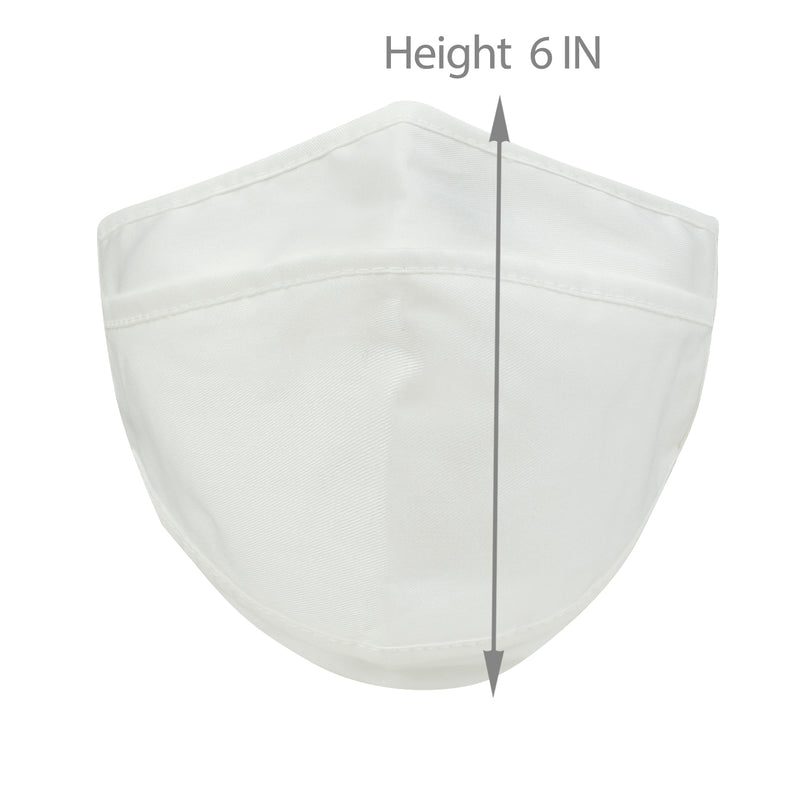ililily Cotton Solid Color Face Cover Reusable Shield With Filter Pocket