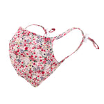 ililily Floral Pattern Wired Face Mask Reusable Shield W/ Filter Pocket