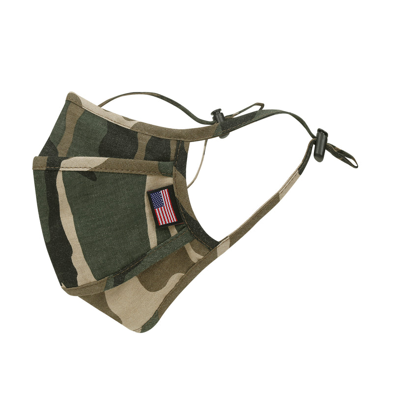 ililily Camouflage Pattern Wired Face Mask Reusable Shield With Filter Pocket