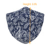 ililily Cotton Paisley Pattern Reusable Face Cover Sewn-in Filter Fashion Mask