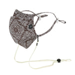 ililily Cotton Patterned Reusable Face Cover Sewn-in Filter Fashion Mask