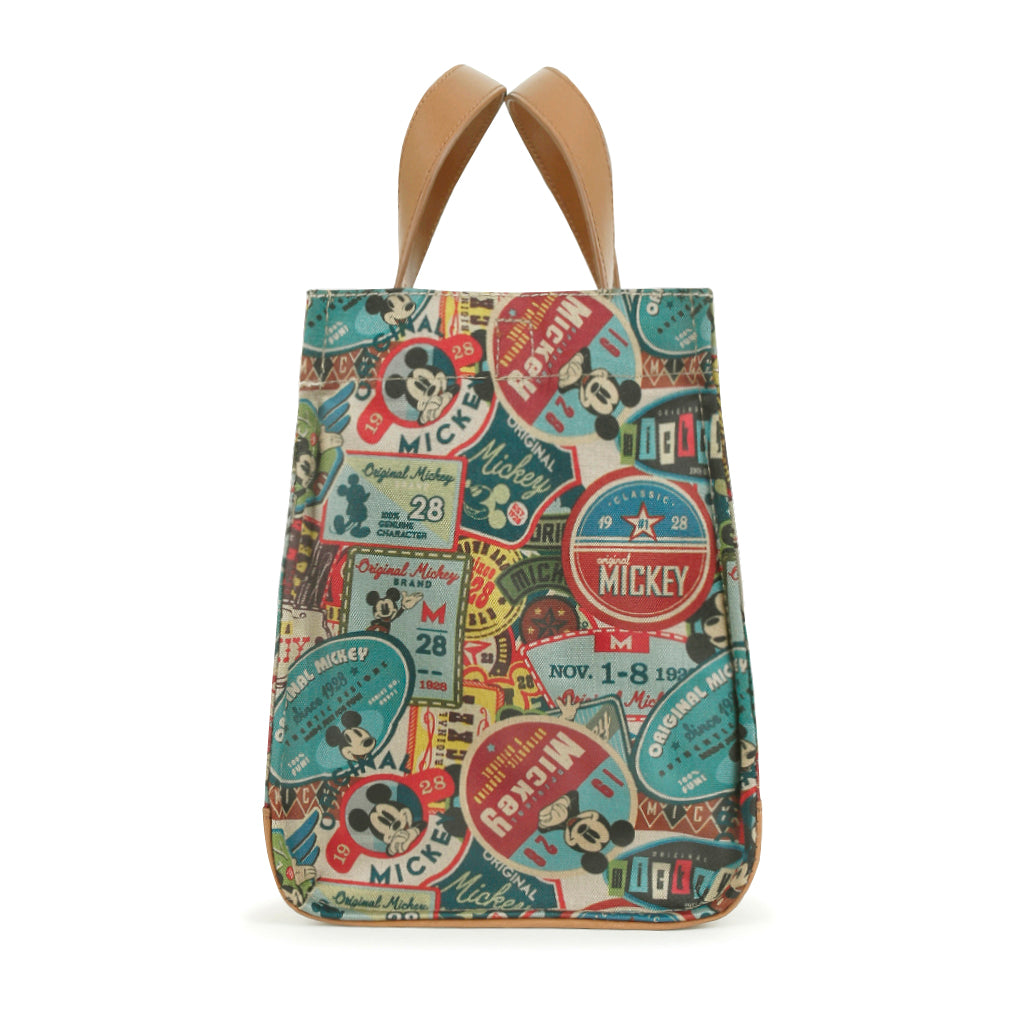 ililily X Disney Mickey Mouse Pattern Tote Bag Vintage Casual Shoulder Bag