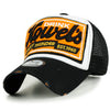 ililily Howels Distressed Vintage Embroidery Baseball Cap Snapback Trucker Hat