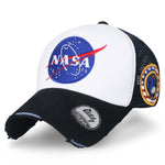 ililily NASA Meatball Logo Embroidery Baseball Cap Apollo 1 Patch Trucker Hat