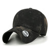 ililily Brushed Washing Cotton Smudged Color Plain Baseball Cap