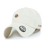 ililily Cotton Teddy Embroidery Baseball Cap Simple Casual Trucker Hat