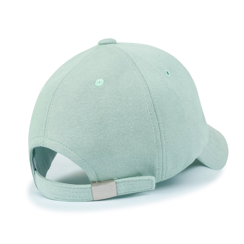 ililily Solid Color Ultimate Embroidery Baseball Cap Simple Casual Trucker Hat
