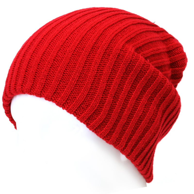 ililily Stretch-fit Ribbed Knit Beanie Skull Winter Hat Sports Running Beanies