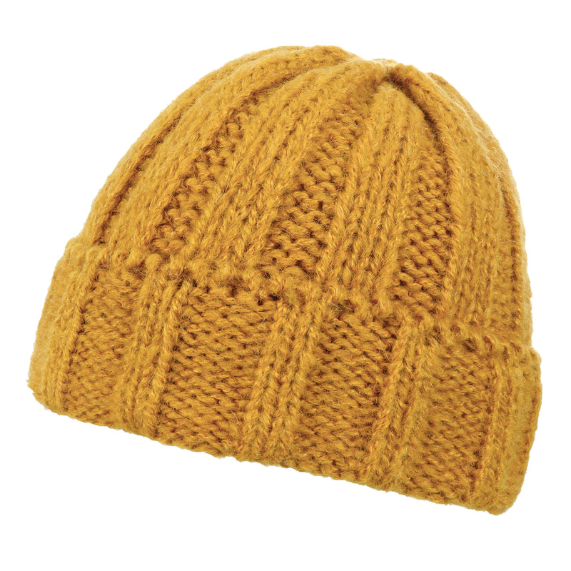 ililily Solid Color Fold Over Soft Beanie Winter Warm Ribbed Knit Hat
