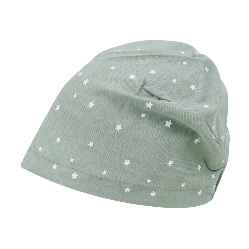 ililily Star Patterned Basic Beanie Soft Light-weight Stretchable Turban Hat