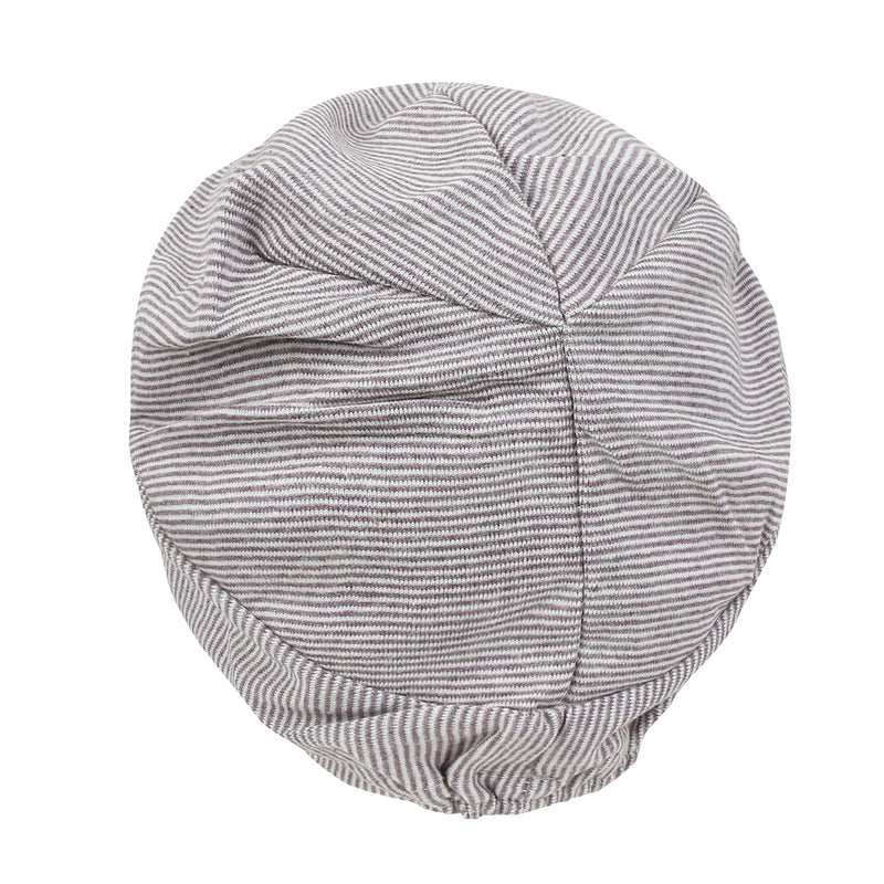 ililily Stripe Pattern Basic Beanie Soft Light-weight Stretchable Turban Hat