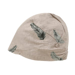 ililily Washed Cotton Feather Pattern Beanie Soft Light-weight Stretchable Hat