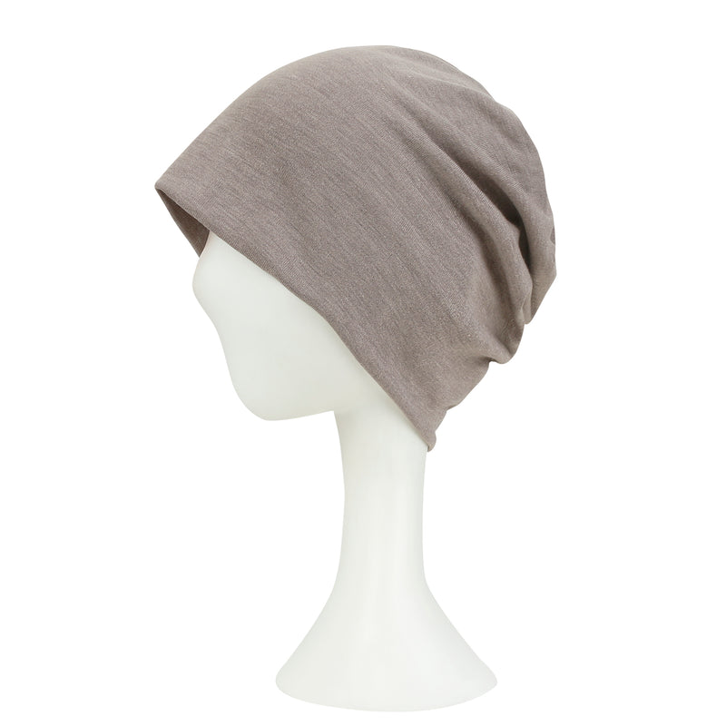 ililily Solid Color Cotton Beanie Soft Light-weight Stretchable Bandana