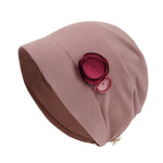 ililily TENCEL™Lyocell Flower Trim Beanie Soft Touch Stretchable Classic Hat