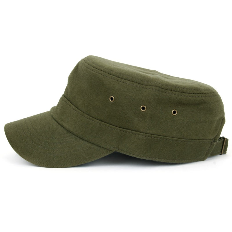 ililily Military Jersey Cadet Cap Adjustable Army Style Hat