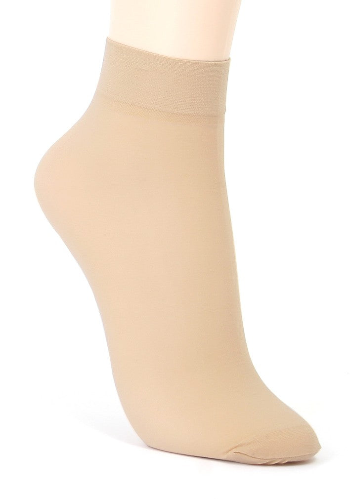 ililily 5 or 10 pairs 20D Sheer ankle high tights hosiery socks