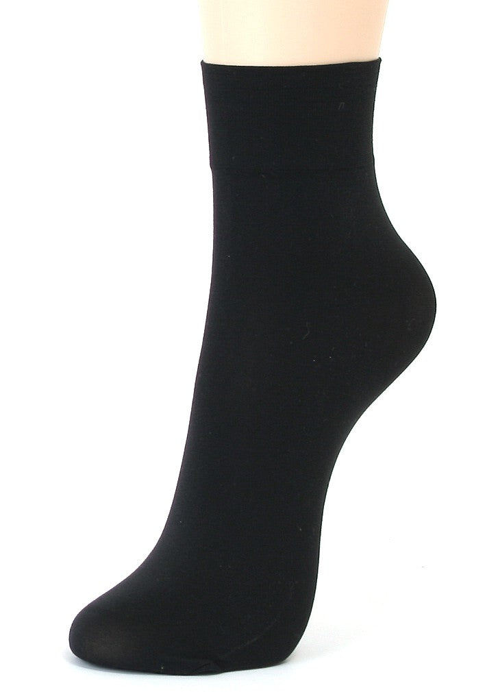 ililily 5 or 10 pairs 80D Opaque ankle high tights hosiery socks