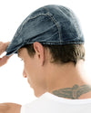 ililily Denim Newsboy Flat Cap Gatsby ivy Irish Cabbie Driver Hunting Hat