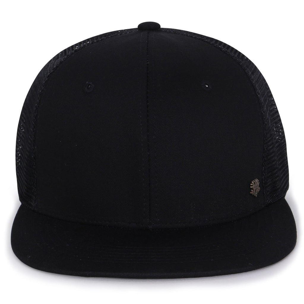 ililily Extra Large Size Solid Color Flat Bill Snapback Hat Blank Baseball Cap