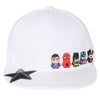 ililily Cute Superheroes Rubber Charms Flat Bill Snapback Hat Baseball Cap