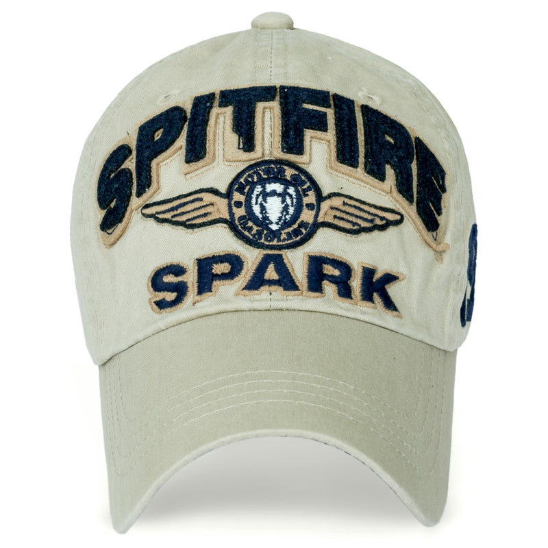 ililily Spitfire Patch Baseball Cap Washed Cotton Casual Adjustable Trucker Hat