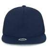 ililily Solid Color Flat Bill Mesh Back Snapback Hat Blank Baseball Cap