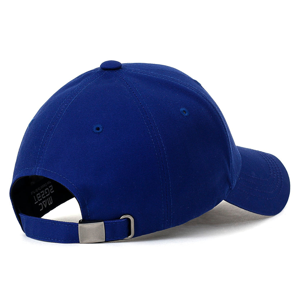 ililily LA Embroidery Solid Color Cotton Trucker Hat Basic Casual Baseball Cap