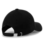 ililily Solid Color Ampersand Patch Baseball Cap Strapback Casual Trucker Hat