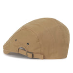 ililily Cotton Solid Color Adjustable Gatsby Newsboy Hat Cabbie Hunting Flat Cap