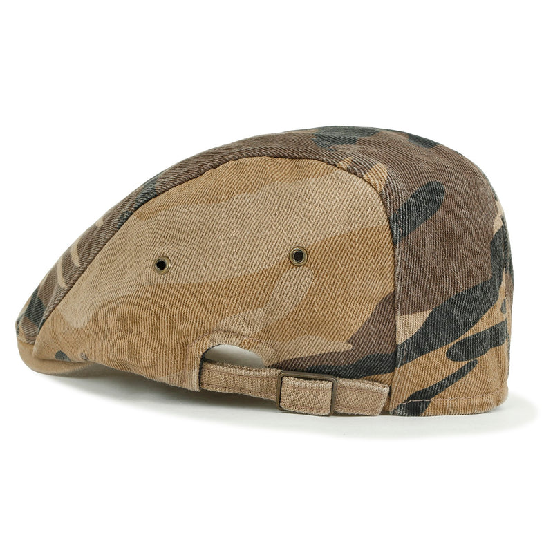 ililily Camouflage Cotton Fitted Gatsby Newsboy Hat Cabbie Hunting Flat Cap