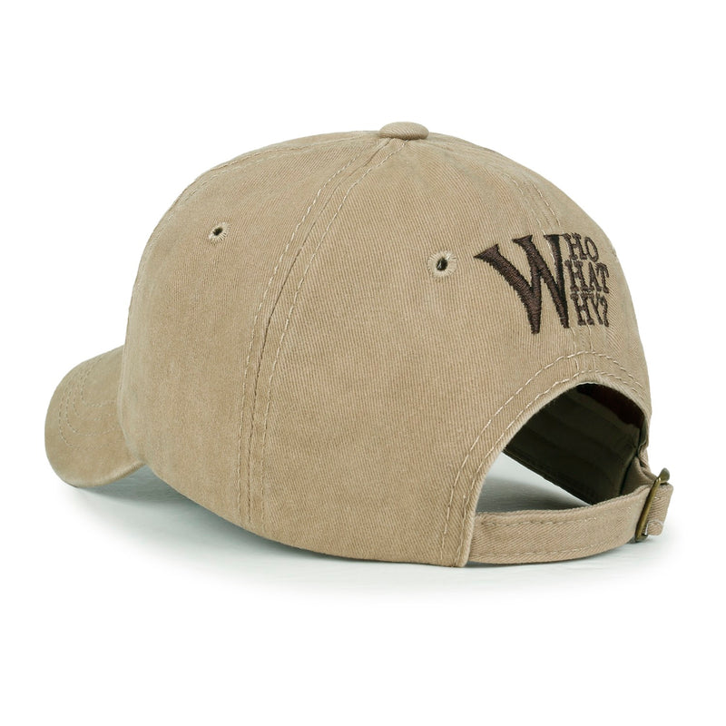 ililily W Patch Baseball Cap Washed Color Cotton StrapBack Trucker Hat