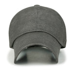 ililily Soft Faux Leather Vintage Trucker Hat Hook Loop Strapback Baseball Cap