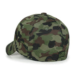 ililily Camouflage Pattern Baseball Cap Loop Front Tactical Fitted Trucker Hat