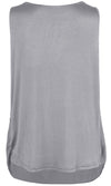 ililily Solid Color Semi-sheer Pleated Front Chiffon Boxy Sleeveless Blouse Top