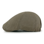 ililily Cotton Washed Flat Cap Cabbie Hat Gatsby Ivy Irish Hunting Newsboy Stretch fit