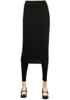 ililily Long Knee Length Skirt Slim Stretch Active Leggings
