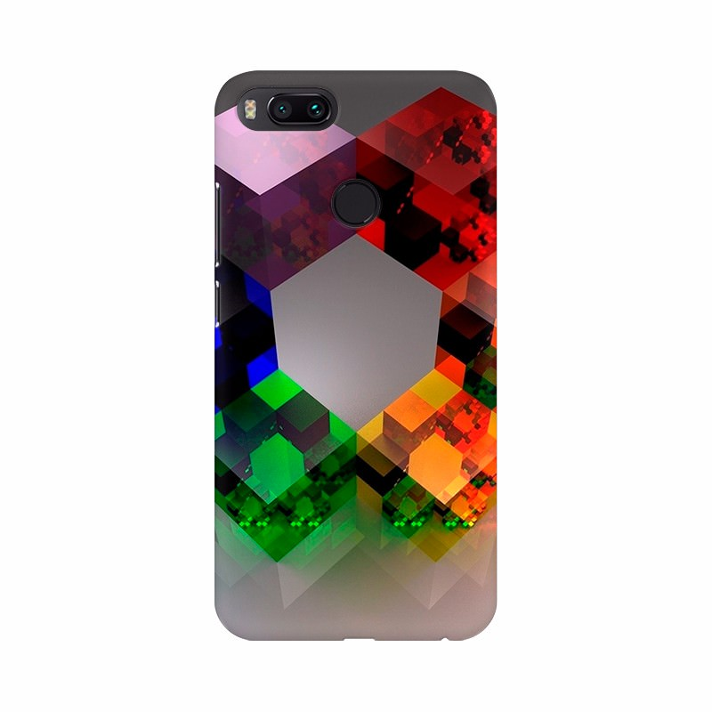 Colorful 3D Diagonal Mobile Case Cover